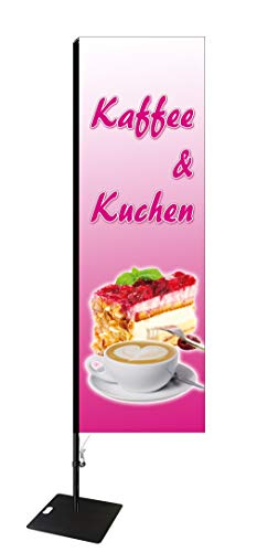 Beachflag Kaffee & Kuchen -ca. 275 cm hoch- SEF505