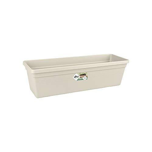 Elho Green Basics Trough 40 - Jardinera - Cotton White - Exterior & Balcón - L 16.5...