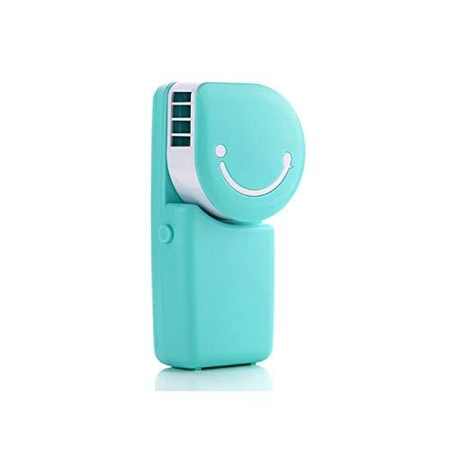 Smile Face Ventilatore ricaricabile Mini ventola di raffreddamento Piccolo dispositivo di raffreddamento portatile senza lama portatile for esterni domestici (Color : Blue)