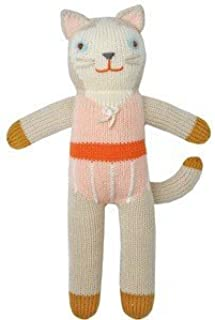 Blabla Colette The Cat Mini Plush Doll - Knit Stuffed Animal for Kids. Cute, Cuddly & Soft Cotton Toy. Perfect, Forever Cherished. Eco-Friendly. Certified Safe & Non-Toxic.