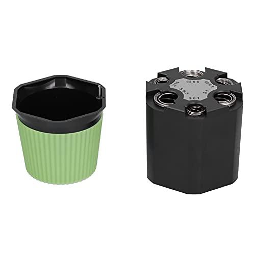 Organizador de cambio de vehículo, hucha de ABS ecológico negro + luz verde para uso en vehículos