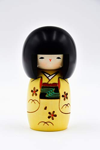 Japan Printemps Poupée Kokeshi Innocence Jaune