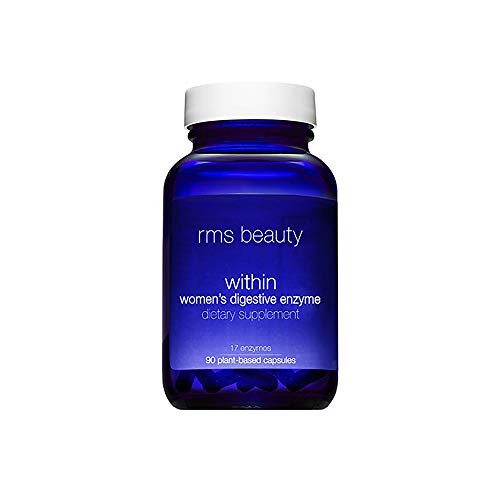 RMS Beauty - Beauty Within Digestive Enzyme Women's Supplements - Multi-Enzyme Tablets with Bromelain & Lactase to Promote Increased Energy & Support Healthy Digestion, Cruelty-Free (90 Capsules)