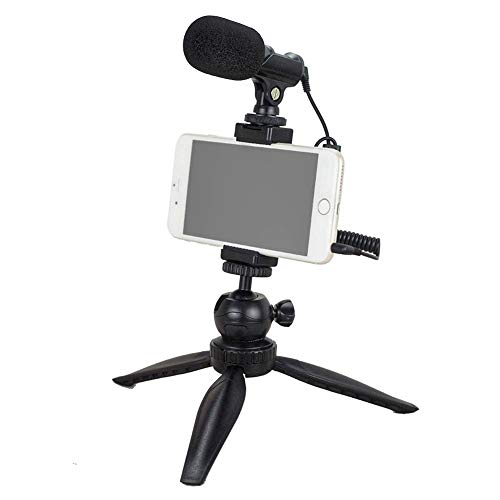 YouTube Starter Kit, Tubace Ranger Starter+ Shotgun Microphone with Mini Tripod, Pocket Vlogging Starter kit, Compatible for iPhone11/XS/X/8/8P/7/7P/6s/se, Galaxy S10/S9/S8/S7 Huawei