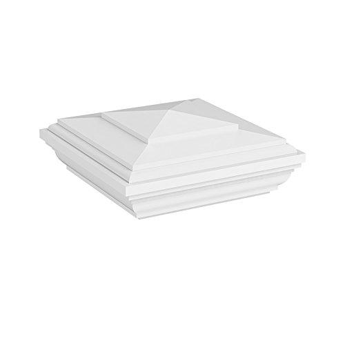 YardSmart 73012500 New England Top with Glue Vinyl Railing, 4' x 4', White