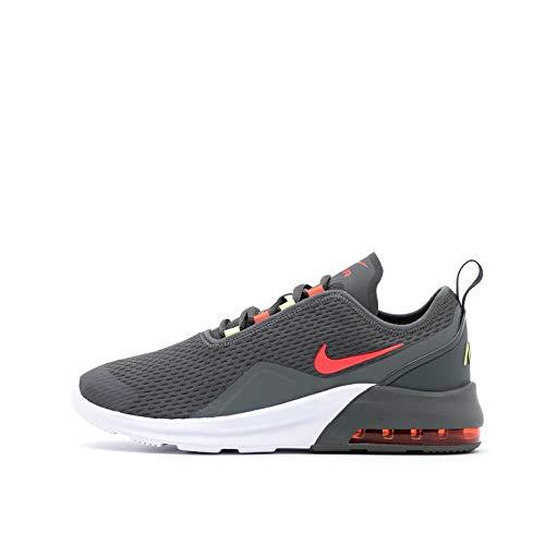 Nike Air MAX Motion 2 (PSE), Running Shoe, Iron Grey/Bright Crimson-Limelight-White, 35 EU