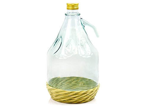 MADE IN ITALY Weinballon Glasballon mit Schraubverschluß Glasflasche GÄRBALLON 3 L