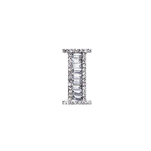 HMYDZ Strass di Cristallo Broches Lettera Iniziale Spilla A-S Bavero Pins e Spille Clip Nome Gioielli for Le Donne Gli Uomini di Nozze (Color : S9)
