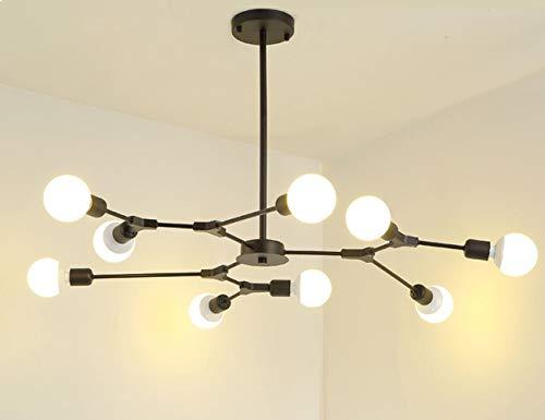 Dellemade Sputnik Kronleuchter,9-Licht Globus Pendelleuchte für Esszimmer, Wohnzimmer, Küche, Büro, Café, Restaurant (Schwarz)
