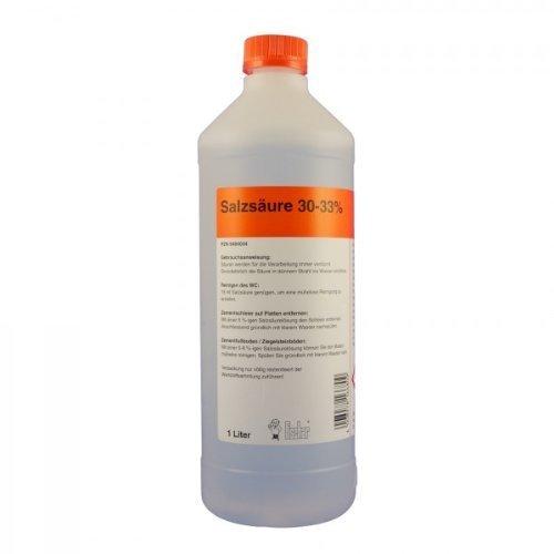 Acide chlorhydrique 30 à 33%, 1litre.