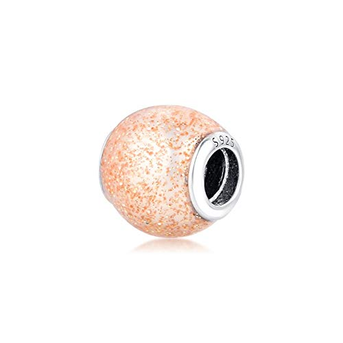 LISHOU Mujer Pandora S925 Plata De Ley Perla Blanca Claro Luminoso Elegancia Encantos Bead Fashion Girl Pulsera Collares Fabricación De Joyas DIY