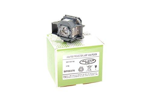 Alda PQ-Premium, Lámpara de proyector para EPSON EMP-S4, EMP-S42, S4 Proyectores, lámpara con Carcasa