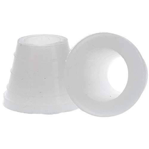 Shishaworld AO® Dichtung Tabaktopf breit, Anzahl 2 Stück | Gummidichtung für Tabakköpfe, Kopfadapter (weiß)