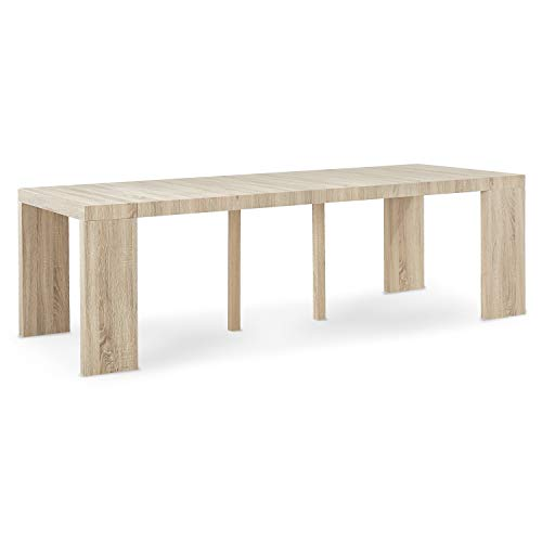 INTENSEDECO Table Console Extensible Oxalys XL Chêne Clair