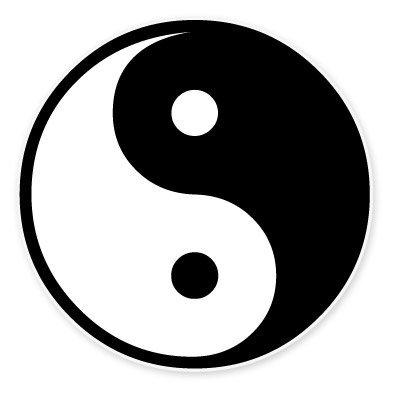 Yin and Yang Symbol NOK Decal Vinyl Sticker |Cars Trucks Vans Walls Laptop|Black|5.5 x 5.5 in|NOK196