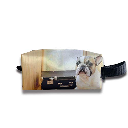 Wooden Bulldog Suitcase Carrying Bag Gift for Women Or Girls