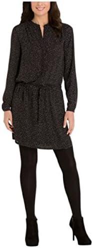 Hilary Radley Ladies Printed Dress Black White Dot Tunic Medium product image