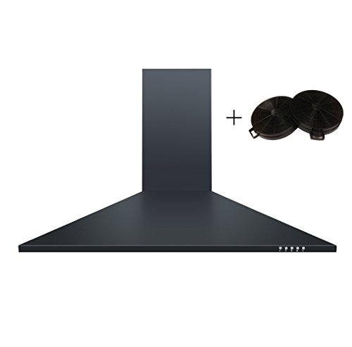 Cookology CH900BK CF100 90cm Chimney Cooker Hood in Black...