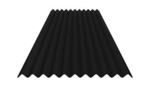 Bitumenwellplatten Set (schwarz)