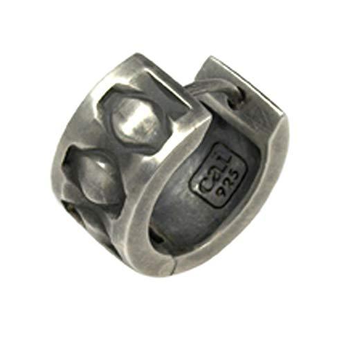 Cai Herren Creole 925/- Sterling Silber 1,53cm Oxidiert ohne Stein Silbergrau 132210501