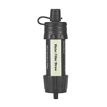 GCDN Purificateur d'eau portable pour extérieur, pailles de purification d'eau sauvage, purificateur d'eau potable d'urgence pour randonnée, camping, voyage