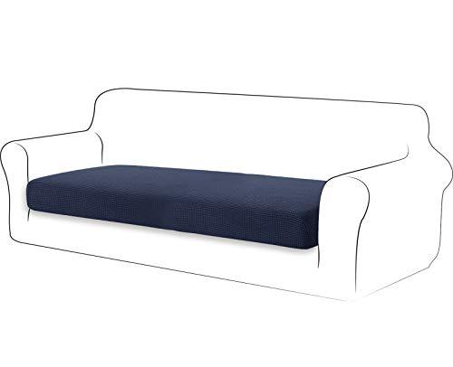 TIANSHU High Stretch Kissenbezug Sofakissen Schonbezug Möbelschutz Sofasitzbezug für Couch 1-teilige Kissenbezüge für 3 Sitzer (3 Sitzer, Dunkelblau)