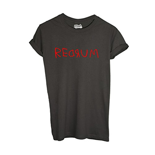 MUSH T-Shirt Shining REDROOM - Film by Dress Your Style - Uomo-M-Grigio Scuro