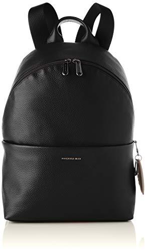 Mandarina Duck Mellow Leather, Zainetto Donna, Nero, Taglia unica