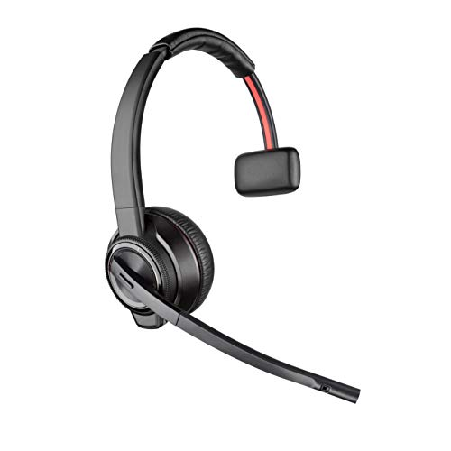 Plantronics - Savi 8210 Office Wireless DECT Headset (Poly) - Single Ear (Mono) - Compatible to connect to PC/Mac or to Cell Phone via Bluetooth - Works with Teams (Certified), Zoom