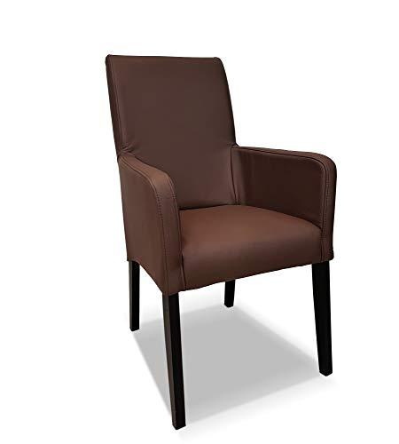Braunes Ledersessel Echtleder Esszimmerstühle David Arm Extra braunes Leder Toledo Espresso Stühle Lederstühle Sessel mit Armlehnen Echt Leder Esszimmer Stuhl