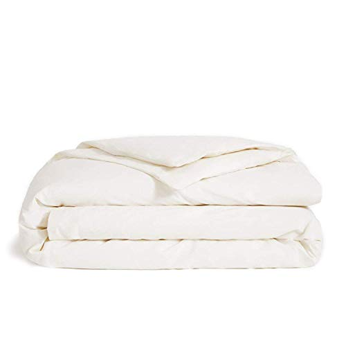 Brooklinen Luxe Duvet Cover with Extra-Long Corner Ties and Button Closure – 480 Thread Count Cotton Sateen – 100 Percent Long-Staple Cotton – Oeko-TEX Certified – Cream – King/Cali King