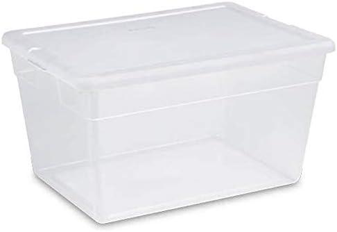 Colorado Springs Mall Sterilite 16598008 56 Max 90% OFF Quart Clear w Container Tote Storage Home
