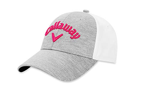 Callaway Golf Women's Heathered Adjustable Hat, Silver/White