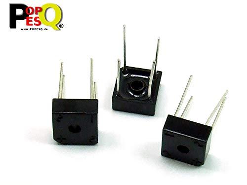 POPESQ® 3 Piezas x KBPC604 Puente rectificador 400V 6A Puente rectificador / 3 pcs. x KBPC604 Rectifier Bridge 400V 6A Bridge Rectifier #A2337
