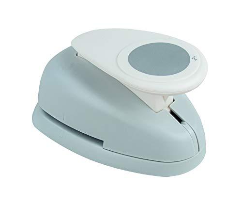 Rayher Hobby 8961400 Motivstanzer Rund/Kreis, ø 5,08 cm- 2 Zoll, geeignet für Papier/Karton bis zu 200g/m², Weiß