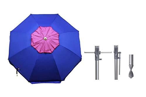 TWIST Sombrilla 200cm Easy Fix Clava FÁCIL C/UPF50+99% UVA Aluminio (Azul)