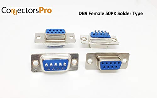 Pc Accessories - DB9 Female D-Sub Solder Type Connector, 50-Pack