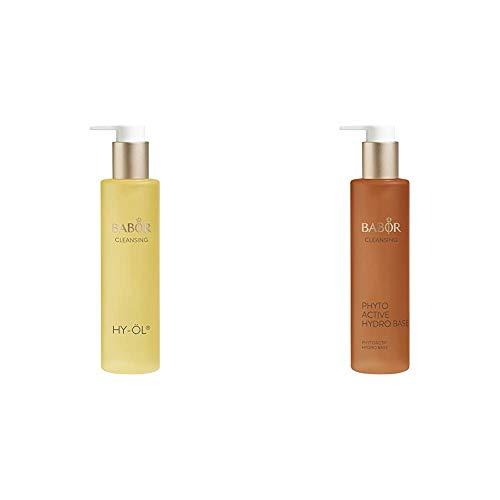BABOR CLEANSING HY-ÖL hydrophiles Reinigungsöl, für jeden Hauttyp, mild & vegan, 1 x 200 ml & CLEANSING Phytoactive Hydro Base, Reinigung mit Pflanzenextrakten, für trockene Haut, 1x100 ml
