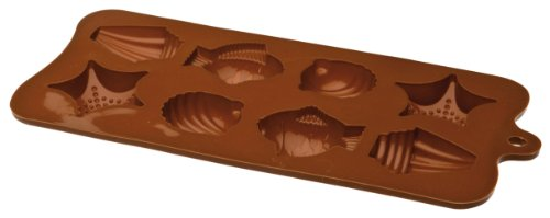IBILI 860307 - Stampo per cioccolatini Frutti di Mare, 10,5 x 21 x 2,5 cm