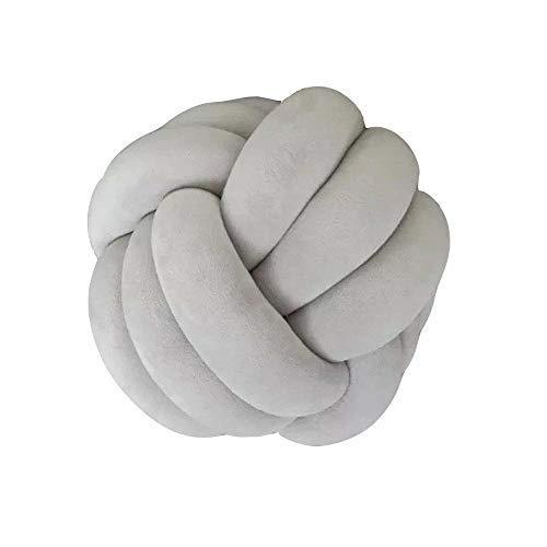 APAN Handmade Knot Ball Pillow,Creative Knot Ball Cushion Pillow Chair Back Cushion Throw Pillow Decorative Cushion for Bedroom Sofa,House Decorations