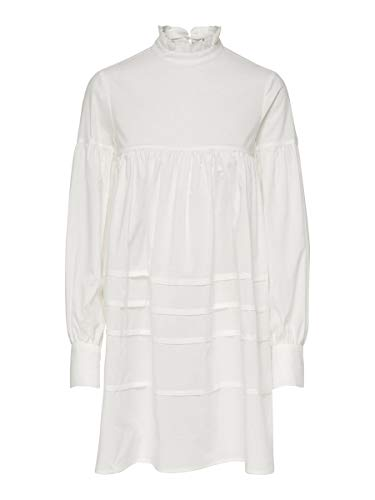 ONLY Damen Kleid Popeline 34Bright White