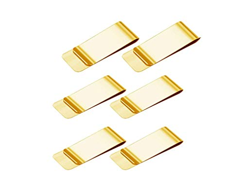 Fermasoldi in Oro,6 Pack Money Clips per Uomini Donne 55*20*1CM