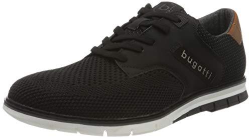 bugatti Herren 311916046900 Sneaker, Schwarz, 42 EU