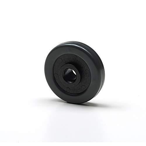 Foppapedretti - 4 ruedas de goma para mobuili de planchado, color negro