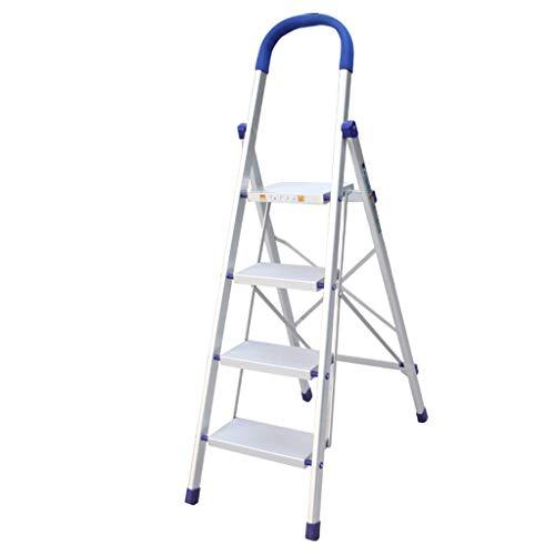 Vierstaps Ladder In De Slaapzaal, Kantoor/Balkon Aluminium Ladder Familie Klimmetjestrappen/Gebruikt om Hoge Plaatsen thuis schoon te maken 46*81.5*142.5cm