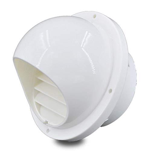 LTLCBB Ronda Rejilla De Ventilación, Montado En La Pared Blanco PP Plastico Pared Exterior Filtro Tubo De Escape De Humo Orificio De Ventilación Lumbrera Tapa De Viento