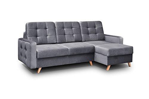 mb-moebel Ecksofa Sofa Eckcouch Couch mit Schlaffunktion und...