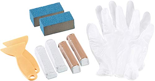 AGT Waschbecken Reparatur: 2er-Set Sanitär-Reparaturkits für Bad, Dusche, Wannen & WC (Email Reparatur)