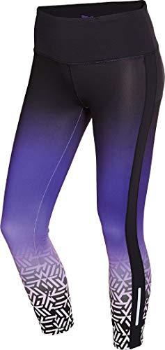 Crivit® Damen Funktionstights Sporthose, lang (Gr. XS 32/34, schwarz violett Verlauf)