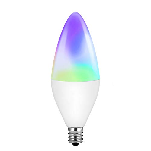 LED Candelabra Bulbs E12 Base,zigbee 3.0 Color Changing and Dimmable Smart Light Bulb, Compatible with Alexa Google Home, Tunable White 320 lm 35w Equivalent